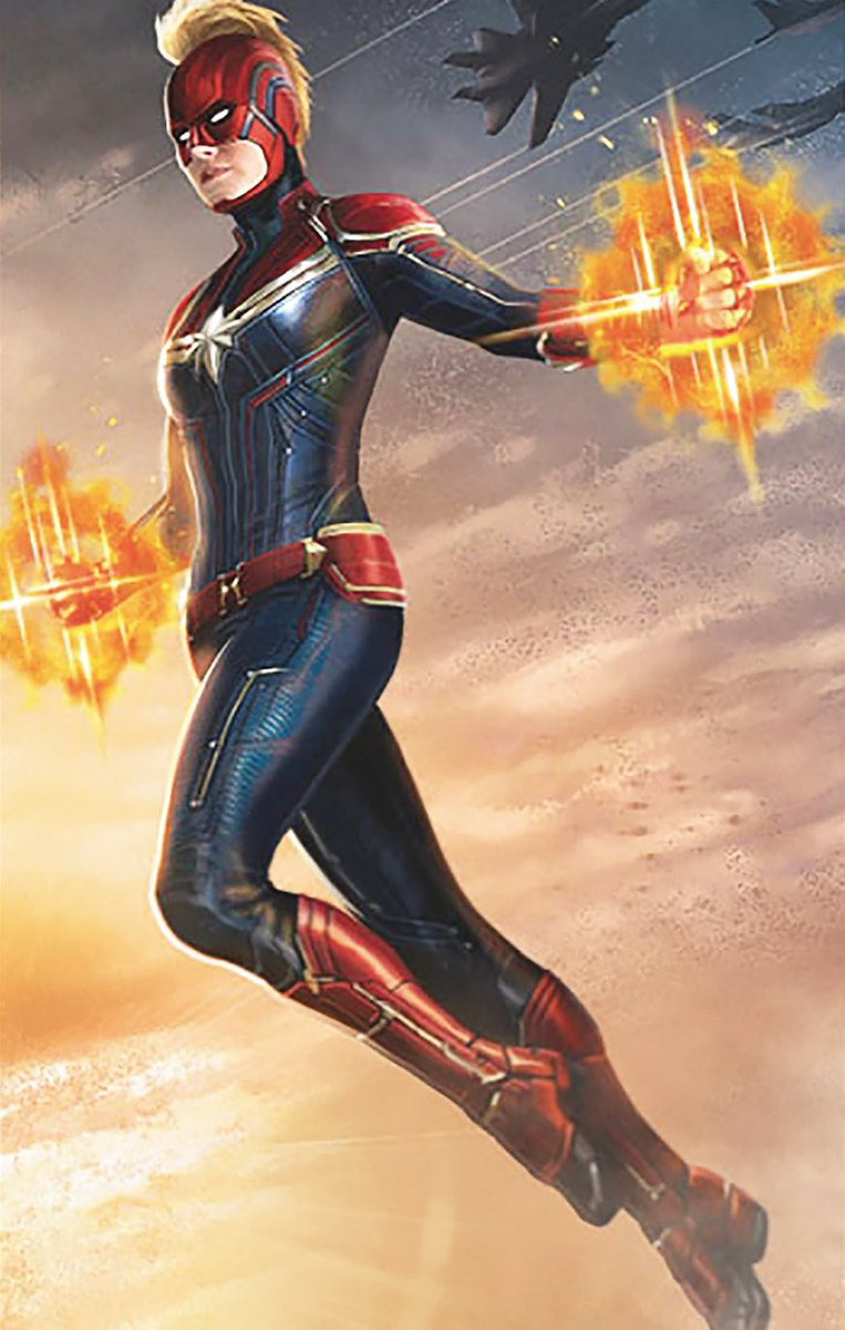 Captain Marvel New Promo Artwork Features The Complete Costume With The Mohawk Check It Out Welcome To Moviz Ark Concept art of captain america from marvel's captain. captain marvel new promo artwork